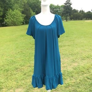 Max and Cleo Teal Dress Size Medium